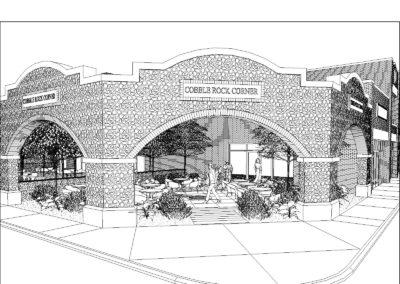 cobble rock corner architect
