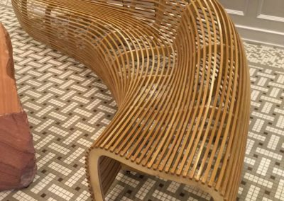 bent wood bench