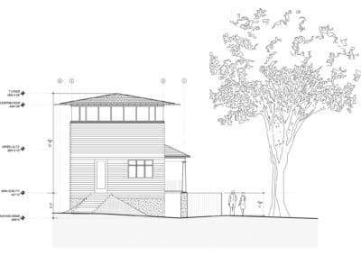 w residence south elevation